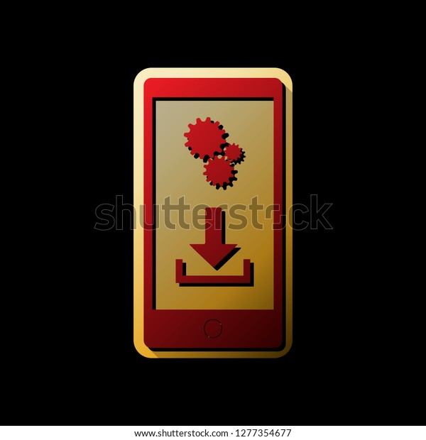Phone Settings Download Install Apps Vector Stock Vector Royalty Free 1277354677