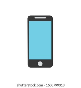 phone simple clip art vector illustration