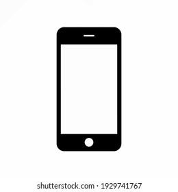 phone simple clip art vector illustration