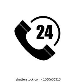 Phone support 24/7 icon isolated on white background. Phone support 24/7 icon for web site, app, ui and logo. Creative concept, vector illustration, eps 10