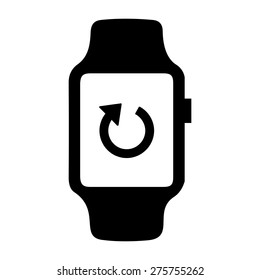 phone synchronization icon on smart watch. vector illustration