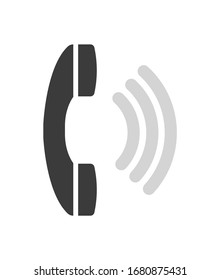 Phone, telephone, call vector color icon illustration
