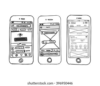 Phone UI Wire frame
