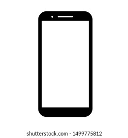 phone vector with blank white screen isolated on white background