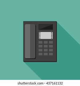 Phone vector flat illustration with long shadow.