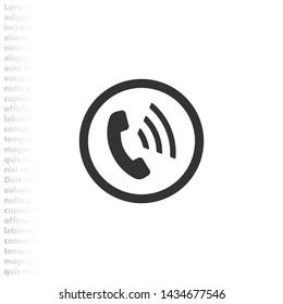 phone vector icon , Lorem ipsum flat design