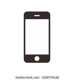 phone vector icon. smartphone. mobile phone in iphone style on the white background.