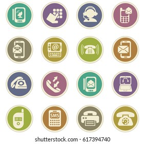 phone vector icons for user interface design