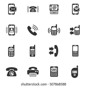 phone web icons for user interface design