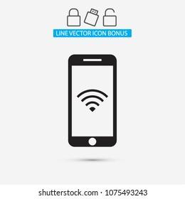 PHONE WIFI icon vector