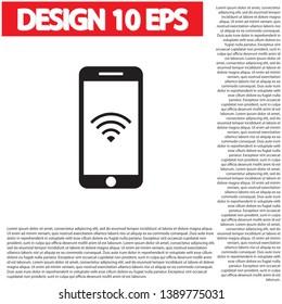 PHONE WIFI icon vector . Lorem Ipsum Illustration design