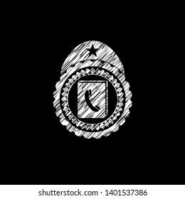 phonebook icon inside chalk emblem