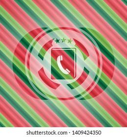 phonebook icon inside christmas badge.