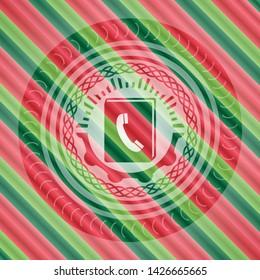 phonebook icon inside christmas emblem background.