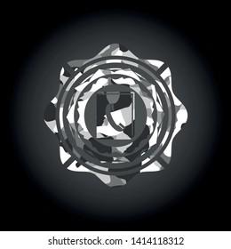 phonebook icon inside grey camouflage emblem