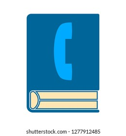 phone-book icon - phone-book isolate, contact-list illustration - Vector phone book