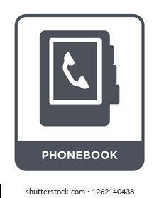 phonebook icon vector on white background, phonebook trendy filled icons from Strategy collection, phonebook simple element illustration