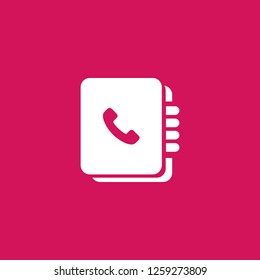 phonebook icon vector. phonebook sign on pink background. phonebook icon for web and app