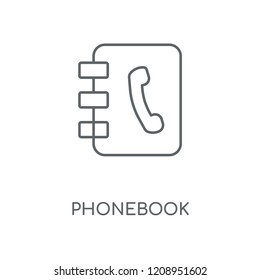 Phonebook linear icon. Phonebook concept stroke symbol design. Thin graphic elements vector illustration, outline pattern on a white background, eps 10.