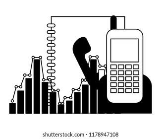 phonebook and phone with statistics