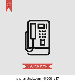 Phonebooth vector icon, illustration symbol