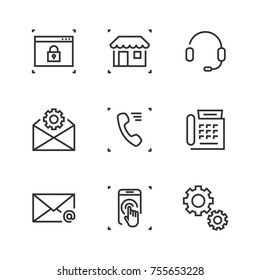 phone,headphone,settings,gear,touch,mobilephone home mart market site locked mail envelope line icon