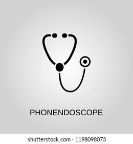 Phonendoscope icon. Phonendoscope symbol. Flat design. Stock - Vector illustration.