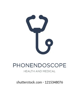 Phonendoscope icon. Trendy flat vector Phonendoscope icon on white background from Health and Medical collection, vector illustration can be use for web and mobile, eps10
