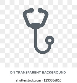 Phonendoscope icon. Trendy flat vector Phonendoscope icon on transparent background from Health and Medical collection.