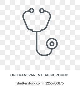 Phonendoscope icon. Trendy flat vector Phonendoscope icon on transparent background from Health and Medical collection. High quality filled Phonendoscope symbol use for web and mobile