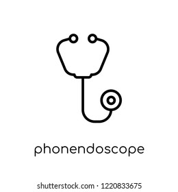 Phonendoscope icon. Trendy modern flat linear vector Phonendoscope icon on white background from thin line Health and Medical collection, editable outline stroke vector illustration
