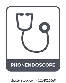 phonendoscope icon vector on white background, phonendoscope trendy filled icons from Health and medical collection, phonendoscope simple element illustration