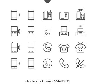 Phones UI Pixel Perfect Well-crafted Vector Thin Line Icons 48x48 Ready for 24x24 Grid for Web Graphics and Apps with Editable Stroke. Simple Minimal Pictogram Part 1-2