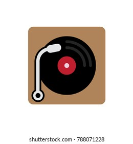 phonograph icon - vector music player