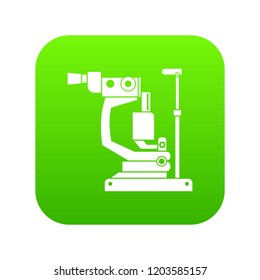 Phoropter icon digital green for any design isolated on white vector illustration
