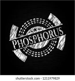 Phosphorus chalkboard emblem written on a blackboard