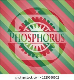 Phosphorus christmas emblem background.