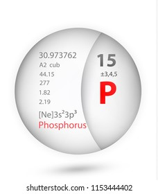 Phosphorus icon in badge style. Periodic table element Phosphorus icon. One of Chemical signs collection icon can be used for UI/UX on white background.