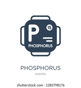 phosphorus icon vector on white background, phosphorus trendy filled icons from Shapes collection, phosphorus vector illustration