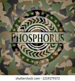 Phosphorus on camouflage pattern
