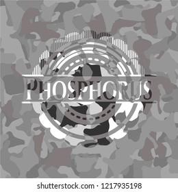 Phosphorus on grey camouflaged pattern