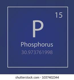 Phosphorus P chemical element icon- vector illustration