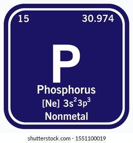 Phosphorus Periodic Table of the Elements Vector illustration eps 10