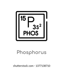 phosphorus vector line icon. Simple element illustration. phosphorus outline icon from shapes concept. Can be used for web and mobile