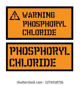 phosphoryl chloride sign on white background