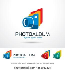 Photo Album Logo Template Design Vector