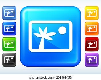 Photo Album Multi Color Square Button