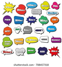 Photo booth props speech bubbles kit for wedding, parties, dates with Superheroes sounds