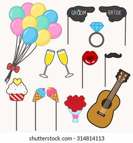 photo booth props for wedding,wedding party set