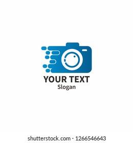 photo and camera creative logo concept